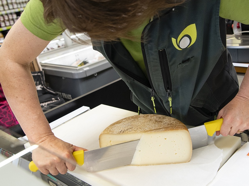 Rayon fromage à la coupe